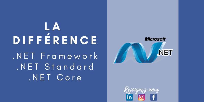 .Net Framework Vs .Net Standard Vs .Net Core ! C'est quoi la différence ?