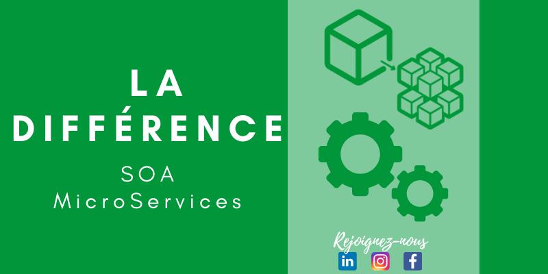 Quelle est la différence entre SOA  et microservices ?
